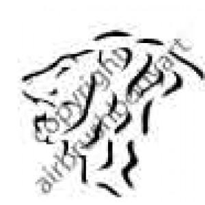 0240 lion reusable stencil